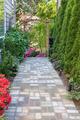 Garden Brick Paver Path with Arbor - PhotoDune Item for Sale