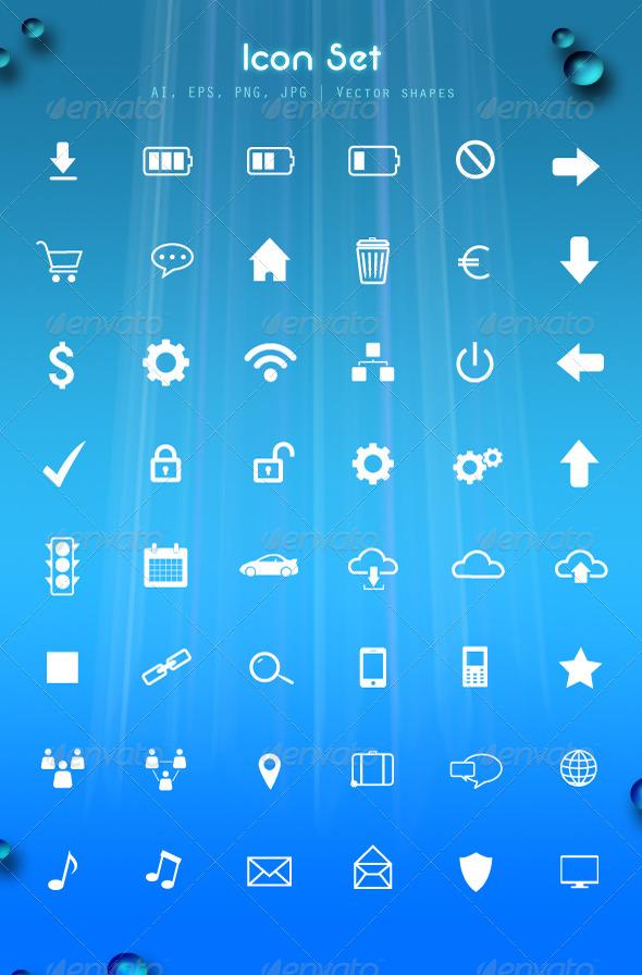 Icon set - Web Elements Vectors
