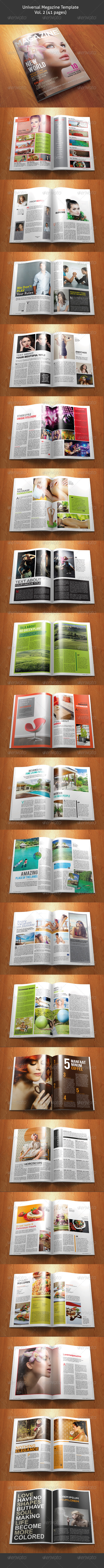Universal Magazine Template Vol. 02 (41 pages) - Magazines Print Templates