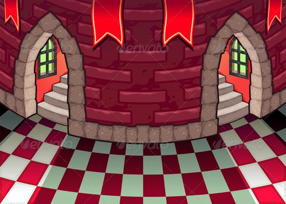 Inside the Castle.  - Buildings Objects