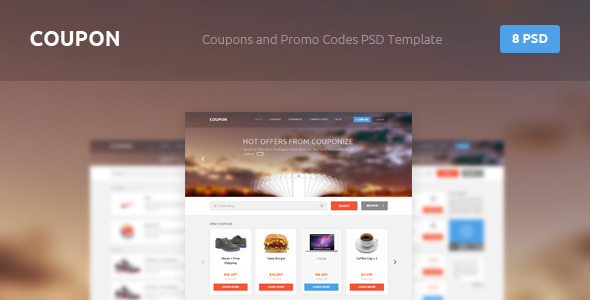 Coupon – Coupons and Promo Codes PSD Template