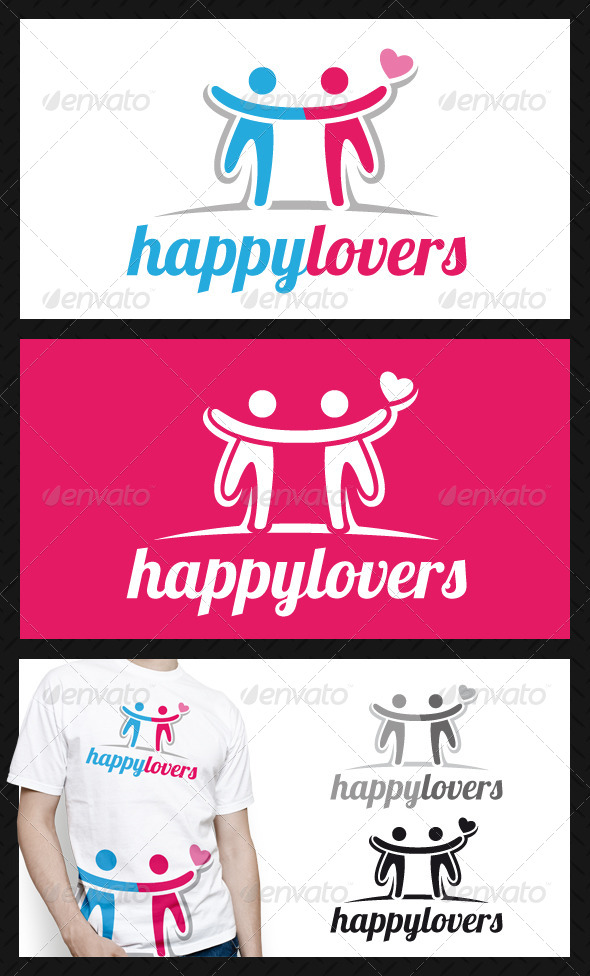 Happy Lovers Logo Template - Humans Logo Templates