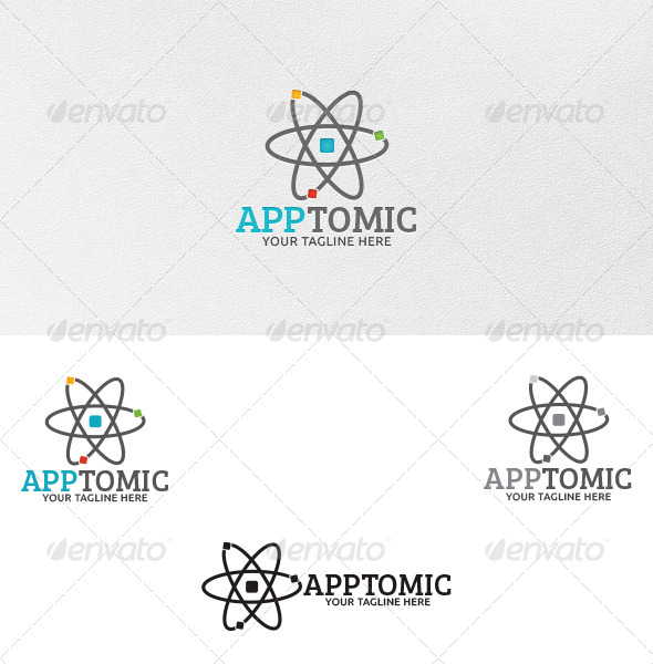 Apptomic - Logo Template - Vector Abstract