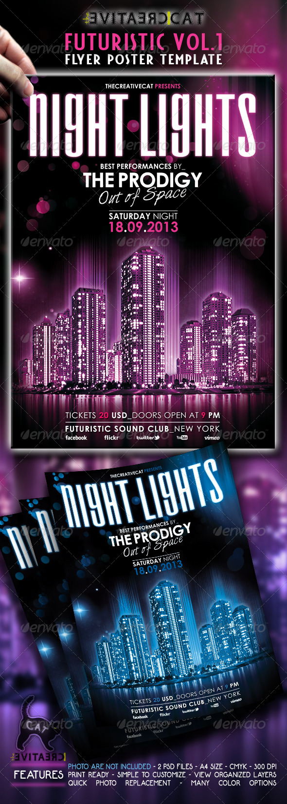 Futuristic Flyer/Poster Vol.1 - Events Flyers