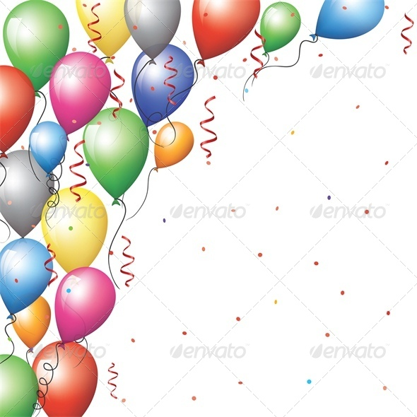 Balloon Border by Prikhnenko | GraphicRiver