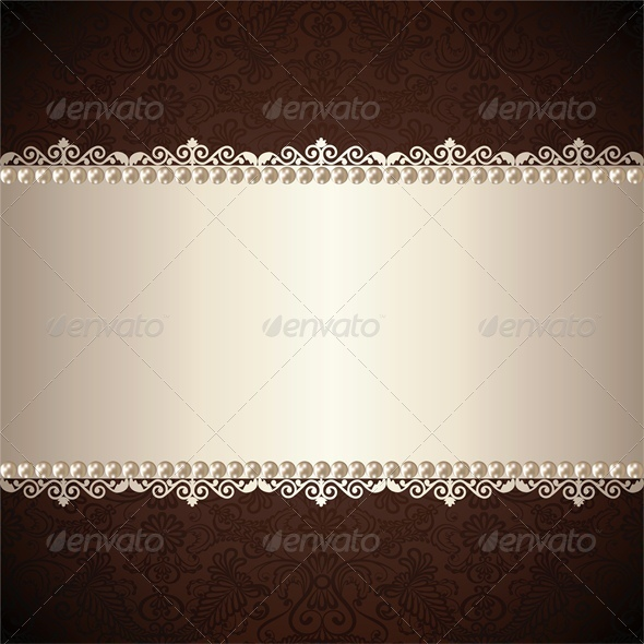 Gold Jewelry Frame - Backgrounds Decorative