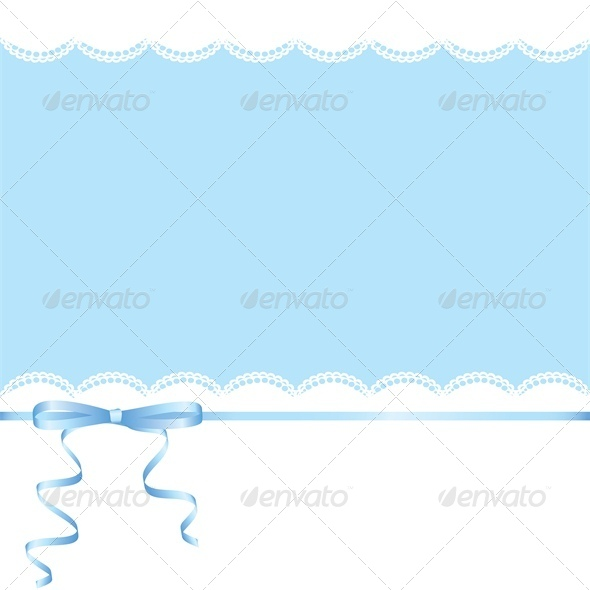 Lace and Ribbon Bow - Backgrounds Decorative