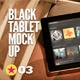 Black Pad | Tablet App Scenes UI Mock-Up V2 - GraphicRiver Item for Sale
