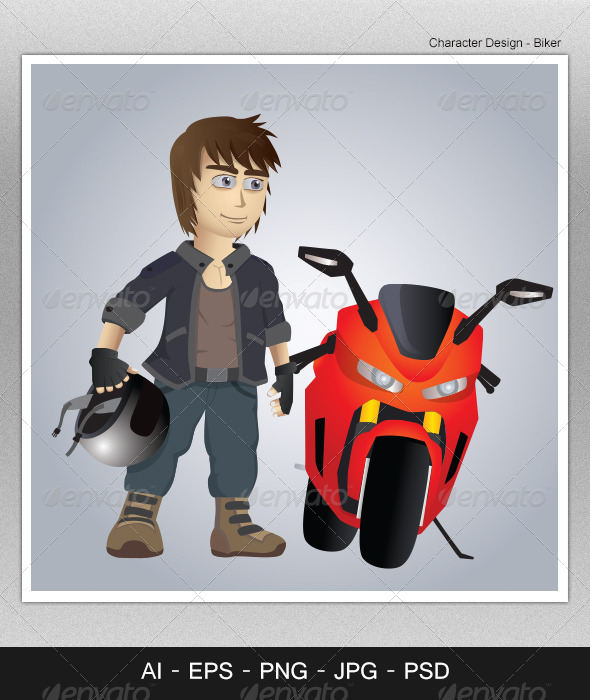 Character Design - Biker - People Characters