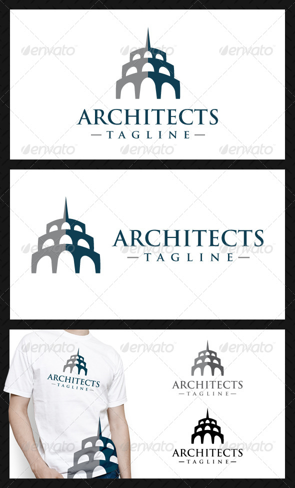 Architects Studio Logo Template - Buildings Logo Templates