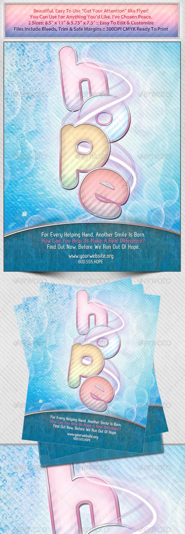 Hope Non Profit Flyer - Miscellaneous Events