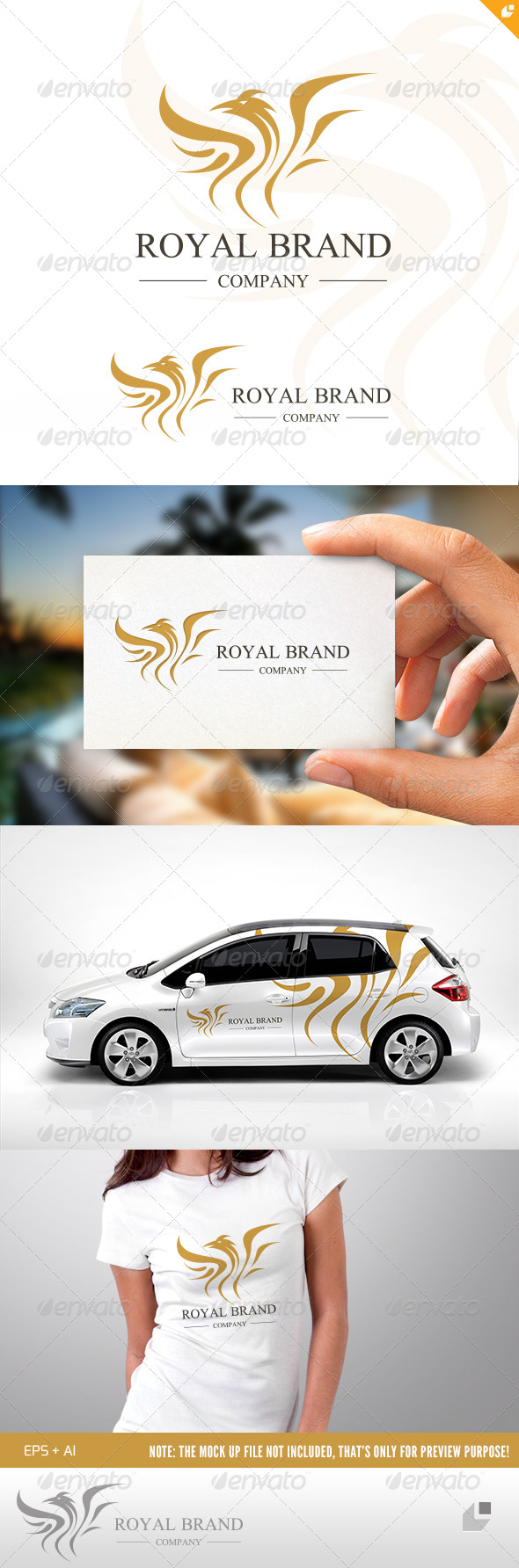 Eagle Royal Brand Logo  - Crests Logo Templates
