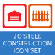 20 Steel Construction Icons - GraphicRiver Item for Sale