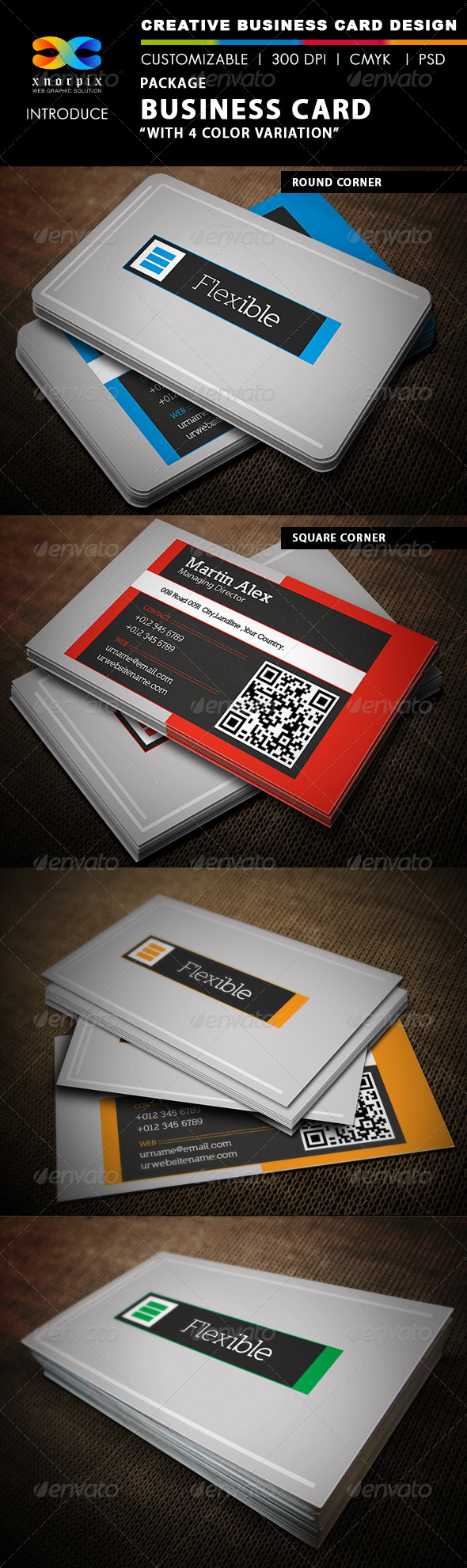 Package Business Card - Corporate Business Cards