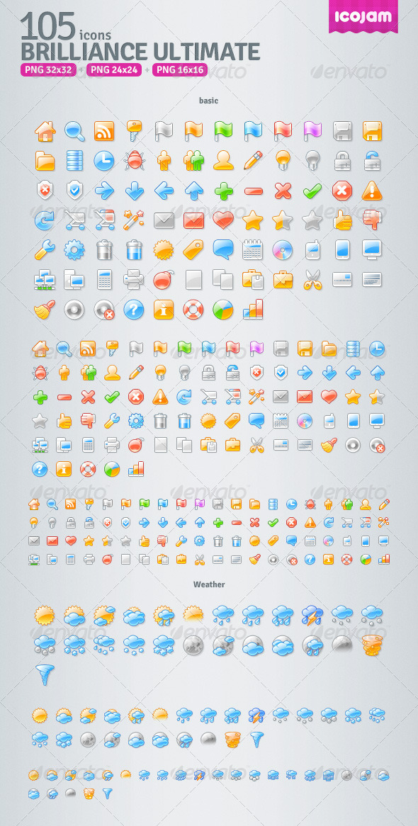 105 Brilliance raster icons - Icons