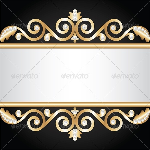 Background with Gold Jewelry Frame - Backgrounds Decorative