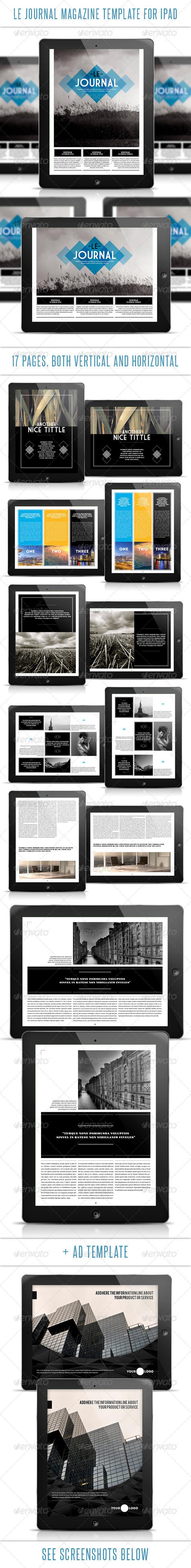 Le Journal Tablet Magazine Template - Digital Magazines ePublishing
