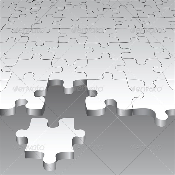 Background with Puzzle Pieces - Concepts Business