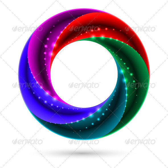 Colorful Spiral Ring - Miscellaneous Vectors