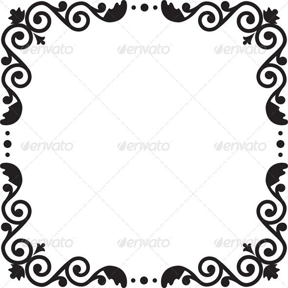 Floral Pattern Frame - Backgrounds Decorative