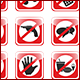 Direction, Indication & Forbidden Signs - GraphicRiver Item for Sale