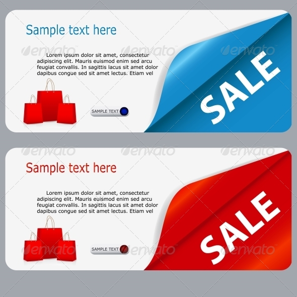 Sale Banner with Place for your Text - Retail Commercial / Shopping