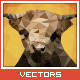 Triangled Bull Portrait - GraphicRiver Item for Sale
