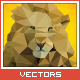 Triangled Lion Portrait - GraphicRiver Item for Sale