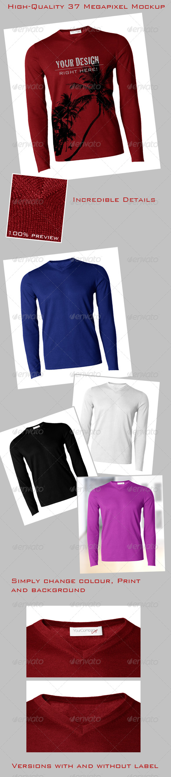 Pullover / Longsleeve / Sweater Mock-Up, Male - Miscellaneous Apparel
