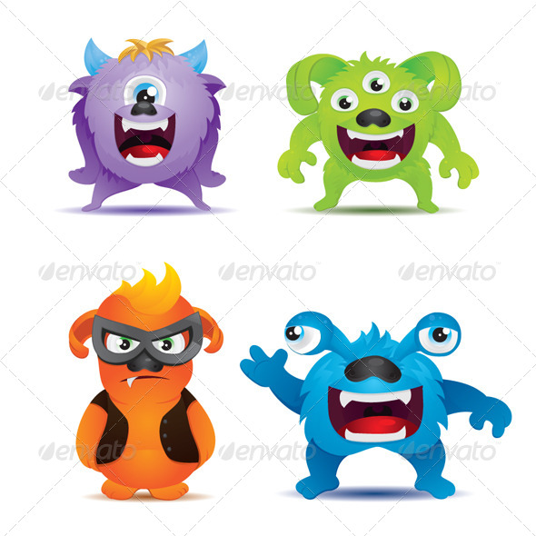 Monster Set - Monsters Characters