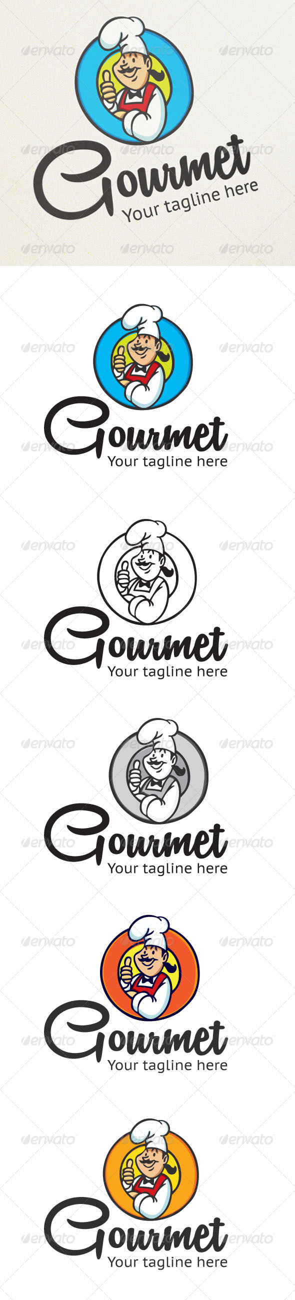 Gourmet - Humans Logo Templates