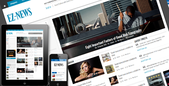 EZ-News Wordpress Theme - Blog / Magazine WordPress