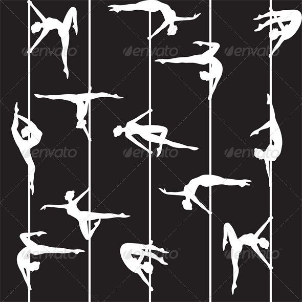 Pole Dancer Silhouette - Sports/Activity Conceptual