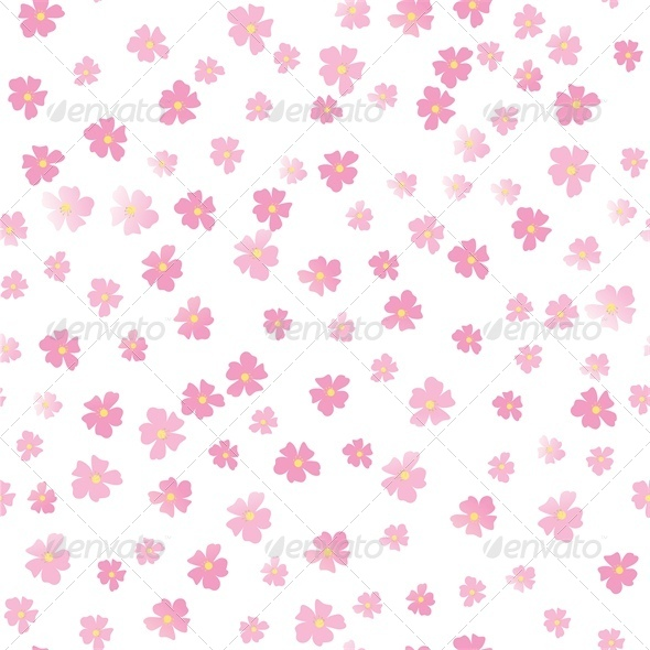 Pink Flowers - Flourishes / Swirls Decorative