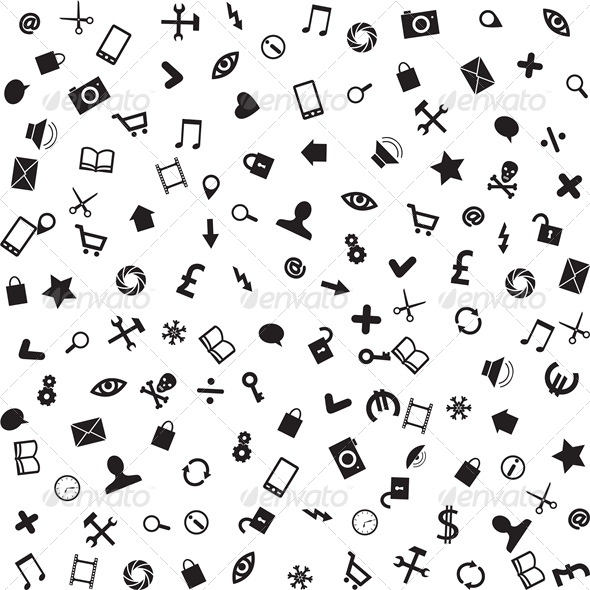 Business and Mobile Icons  - Backgrounds Business