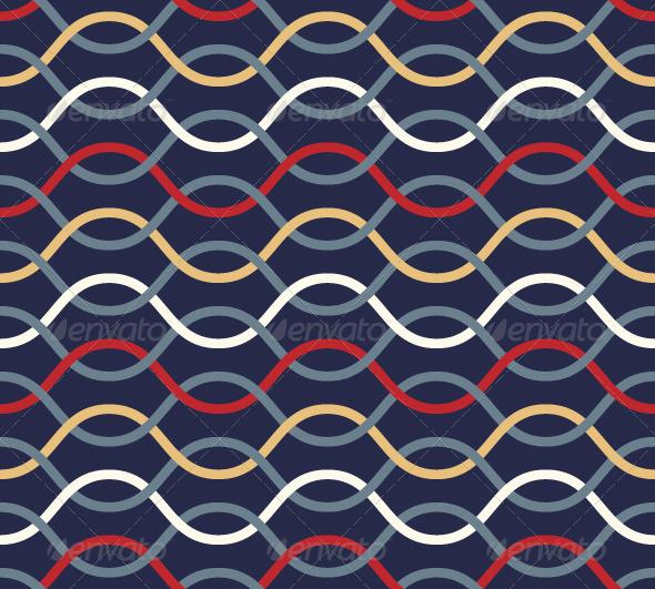 Retro Wavy Seamless Pattern.  - Patterns Decorative
