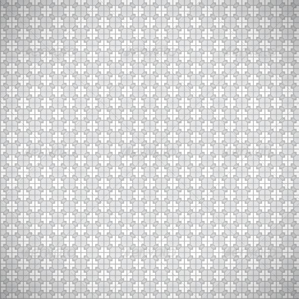 Seamless Grey Retro Pattern Background - Patterns Decorative
