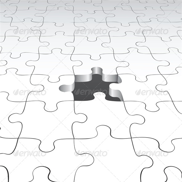 Background with Puzzle Pieces - Man-made Objects Objects