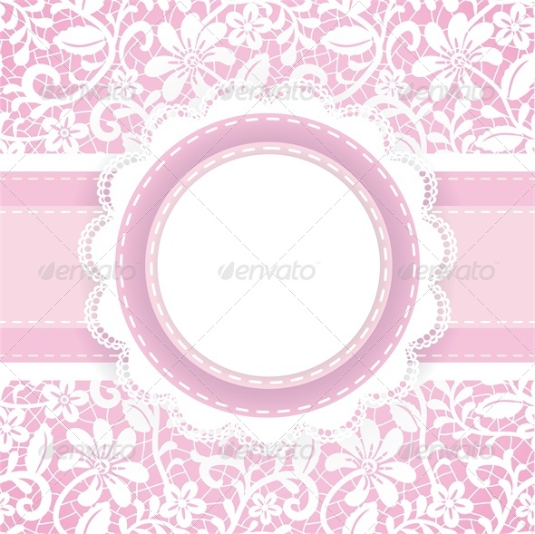 Lace Background and Pearl Necklace  - Backgrounds Decorative