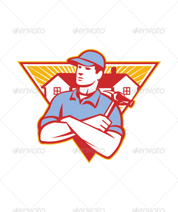 Builder Construction Worker Hamm - People Characters