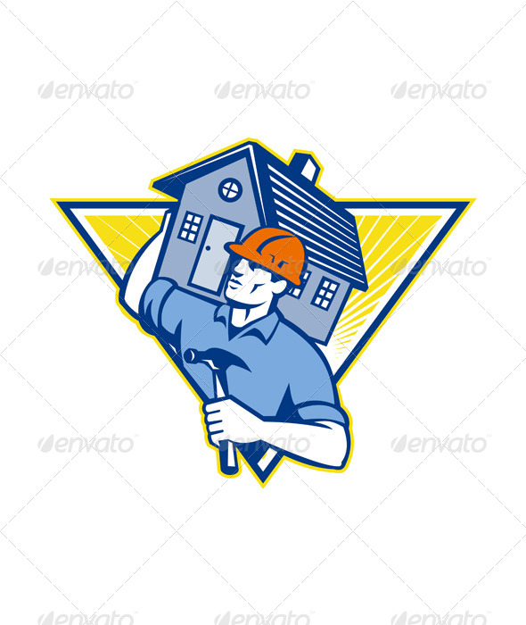 Builder Construction Worker Hammer - People Characters