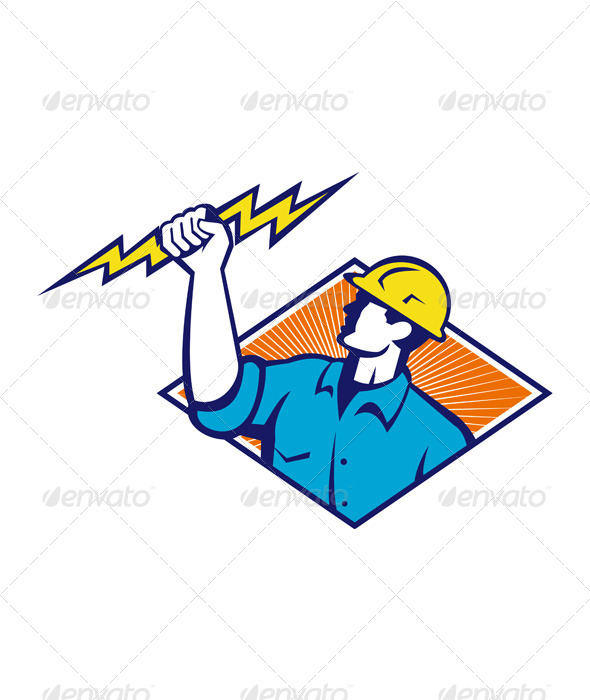 Electrician Construction Worker - People Characters