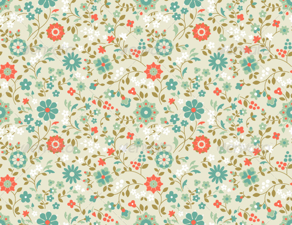 Seamless Floral Pattern. - Backgrounds Decorative