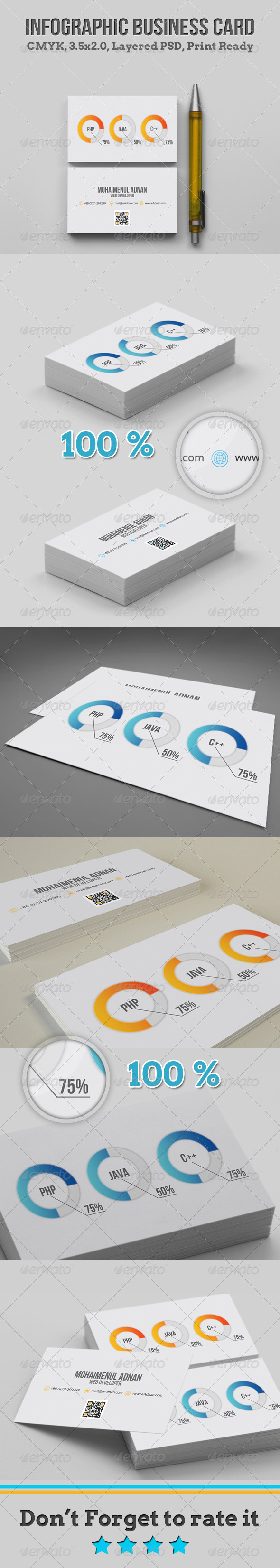 Infographic Business Card - Corporate Business Cards