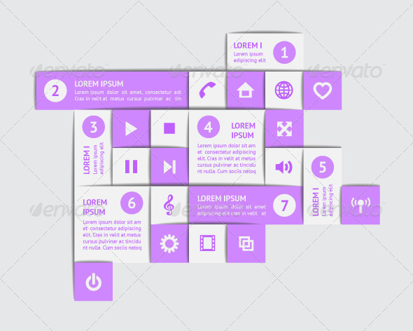 Design Elements and Templates - Web Elements Vectors