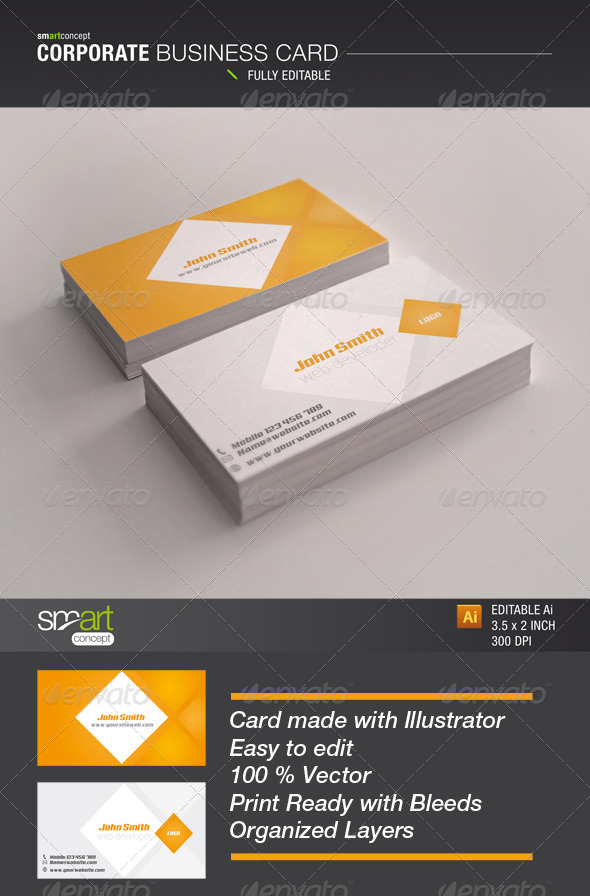 Corporate Business Card - Business Cards Print
