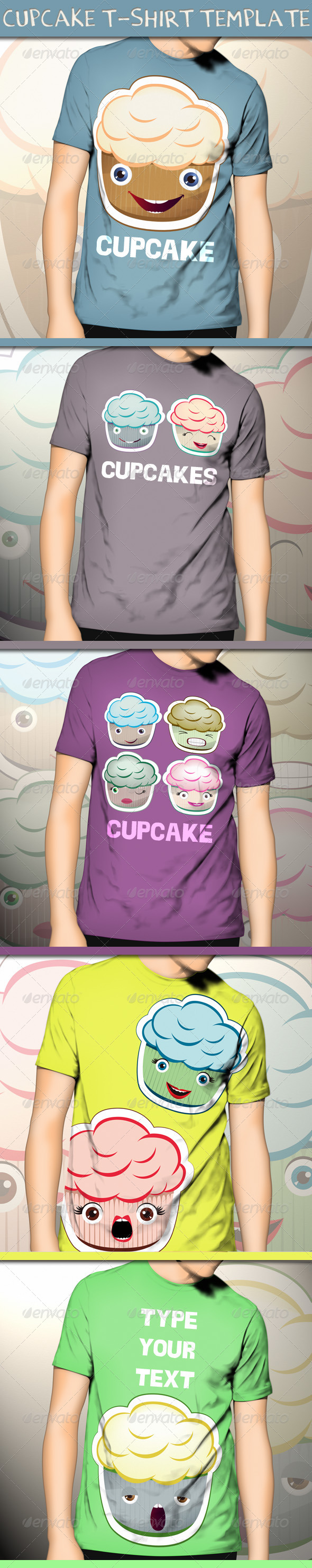 Cupcake T-Shirt Template - Funny Designs