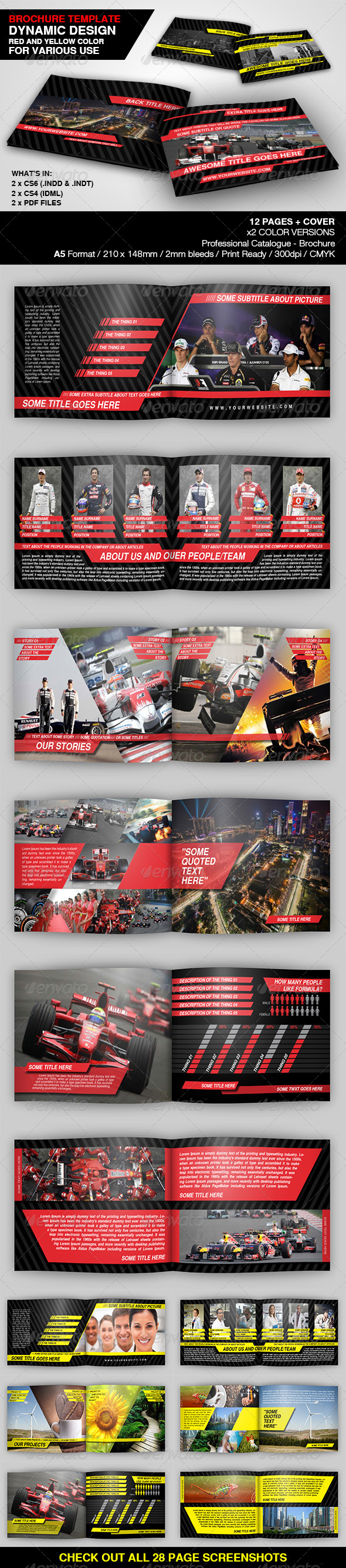 Dynamic Brochure Template - Catalogs Brochures