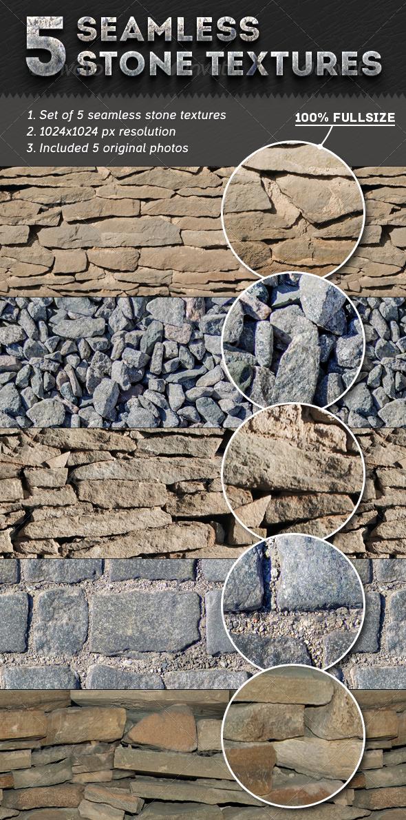 5 Seamless Stone Textures - Textures