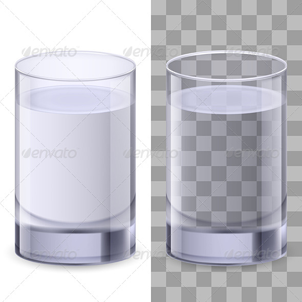 Glasses of Water - Food Objects